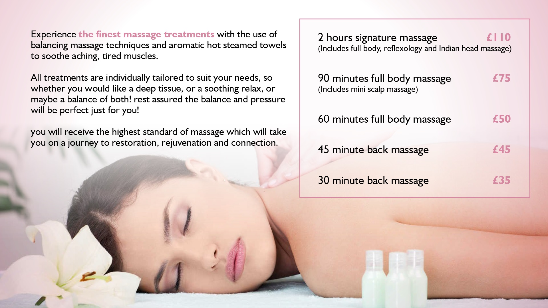 Experience the Finest Massage Treatments
